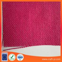 Buy cheap Pink paper wire weave fabric cloth natural straw fabric textile from wholesalers