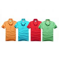 Embroidery Cotton Polo Shirts Eco - Friendly Yarn Dyeing In A Variety Of Colors for sale