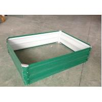 Wholesale Light Green Powder Coated Steel Raised Garden Beds Anti Rusting from china suppliers