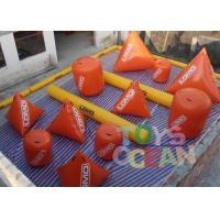Wholesale 0.9mm PVC Vinyl Tarpaulin Inflatable Paintball Air Bunkers With Silk Printing from china suppliers
