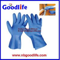 Wholesale Red color/ 100% cotton inerlock lined/ oil and chemical resistant PVC Glove from china suppliers