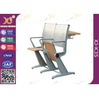 Wholesale Student Intelligent Desk And Chairs Plywood / Steel Back For College Furniture from china suppliers