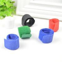 Wholesale Blue / Black / Green Cord Management Straps Adhesive Cable Clamps For Wire from china suppliers