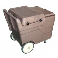 Wholesale Hot Sell Durable PE Brown 110Litre Ice Cart Ice Caddies for Hotels from china suppliers