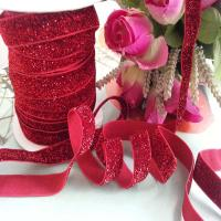 Wholesale Glitter Elastic Ribbon DIY Single Face Gift Packing Lace Ribbon from china suppliers