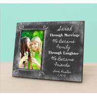 Wedding Gift Amount Sister : Sister In Law Wedding Gift- Personalized Picture FrameWedding ...