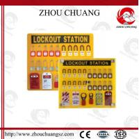 Quality PP Colorful Security Economic Integrated High Class Lockout Station for sale
