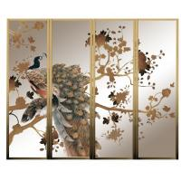 Wholesale Custom Movable Decorative Glass Partition For TV Background , Glass Door from china suppliers