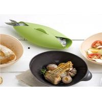 Wholesale Heat Resistant Green Oven Silicone Camping Bowl Steamed Fish Safe Food Grade from china suppliers