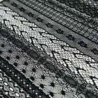 China 100% Nylon Lace Fabric with Romantic Pattern, Suitable for Fashionable Wear and Underwear on sale