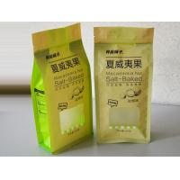 Wholesale Dried Fruit Zippered Kraft Paper Quad Seal Bags With Clear Window from china suppliers