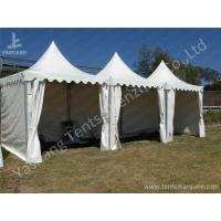 Wholesale Popular No Window High Peak Tents For Small Party , White Fabric Cover from china suppliers