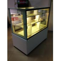 Wholesale 2 Meters Easy moving wheel  Cake Display Cabinets Freezer Sliding Double Doors from china suppliers