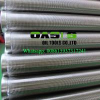 Wholesale Oasis Factory Supplies Johnson wedge wire screens/water well casing pipe from china suppliers