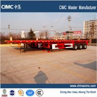 Wholesale tri-axle 40 feet  flat bed trailer for 20 and 40' feet container from china suppliers