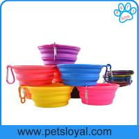 Wholesale Manufacturer Silicone Pet Feeder Collapsible Travel Pet Dog Bowl from china suppliers