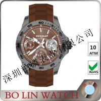 Wholesale Tempered Glass Carbon Elements Watches , Chronograph Scratch Resistant Forged Carbon Watch from china suppliers