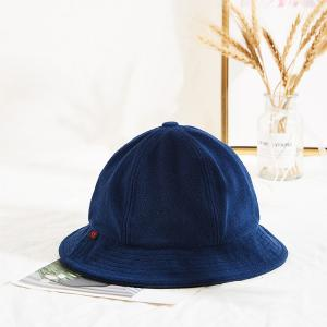 Wholesale Navy Blue Warm Winter Thick Fishing Bucket Hats Custom Logo from china suppliers