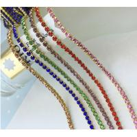 Wholesale Gold Plated Metal Crystal Rhinestone Cup Chain from china suppliers