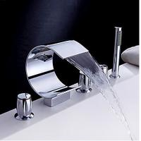 Wholesale Waterfall with Hand Shower Tub Faucet (Chrome Finish), FY-1403-02 from china suppliers