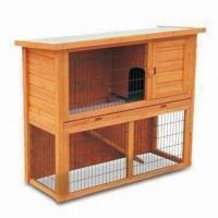 Wholesale Rabbit Hutch, 2-door and Ramp from Run to Living Room, Sized 116 x 63 x 97cm from china suppliers