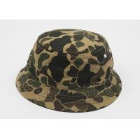 Buy cheap Cotton Comouflage Fishing Bucket Hat Inner Embroidery , Men Sun Hats from wholesalers
