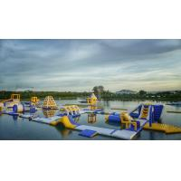Buy cheap Huge Inflatable Floating Aqua Park Blue , Yellow And White Color EN15649 from wholesalers