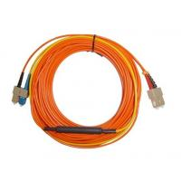 Wholesale SC APC - SC APC Optical Fiber Network Patch Cord , Orange White Black from china suppliers