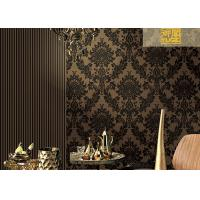 Wholesale Floral Soundproof Thick Velvet Damask Wallpaper , Non Woven Wallcovering European Style from china suppliers