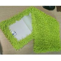 Buy cheap Microfiber 650gsm Green Small Chenille Folded 13*47cm Oxford Pocket  Wet Mop Pads from wholesalers
