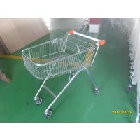 Wholesale European Style 71L Shopping Trolley Cart Metal With Swivel Casters from china suppliers