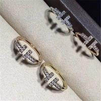 Wholesale Tiffany T ring 18k gold white gold yellow gold rose gold diamond  ring from china suppliers