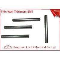 Wholesale White Galvanized Electrical Conduit / 1 inch EMT Conduit ERW Welded , Unthread Type from china suppliers