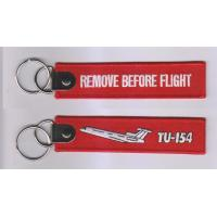 Wholesale Remove Before Flight TU-154 Embroidered Keychain with Customized Embroidered Logo, Accept from china suppliers
