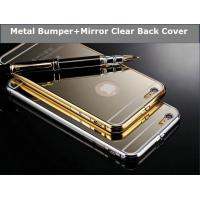 Wholesale Iphone 6 Luxury Metal Bumper Mirror Back Case Cover from china suppliers