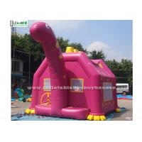Wholesale Pink Dino Inflatable Bouncy Castles Commercial Grade Bounce Houses from china suppliers