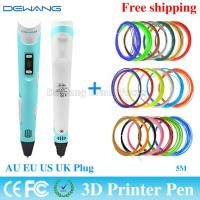 Wholesale Professional  Blue 3D Air Pen , 3D Drawing Pen  DC 12v 2A 24W from china suppliers