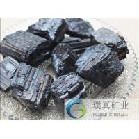 Buy cheap Natural black Tourmaline stone rough rock original crystal stones for decoration from wholesalers