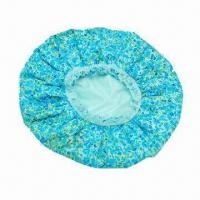 Wholesale Double-layered Shower Cap, Mainly Used at Hotels, Home Use and More, Available in Various Styles from china suppliers