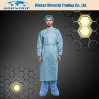 Wholesale Disposable Non-woven Blue Dustproof Isolation Gown Surgical Gown Lab Coat from china suppliers