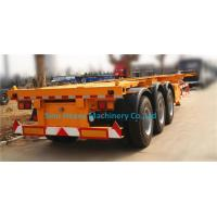 Wholesale 60T Manual Low Bed Trailer 3 Axles / Two single Trailer Truck from china suppliers