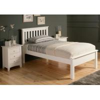 Wholesale Simple Gorgeous Wooden Queen Size Bed Frame , White Single Wooden Bed Frame With Mattress from china suppliers