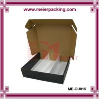 Wholesale Popular Top Design 3 bottle wine boxes/Truck end wine corrugated box ME-CUR015 from china suppliers