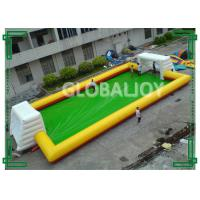 Wholesale PVC Tarpaulin Inflatable Sport Game Football Field / Inflatable Football Pitch from china suppliers