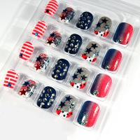 Wholesale Short Glitter 3D Fake Nails Star Diamond Full Cover For Children from china suppliers
