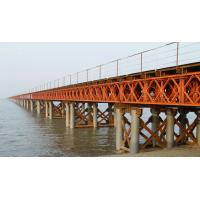 Wholesale Prefabricated Compact Bailey Bridge / Portable Steel Bridge Light Weight from china suppliers
