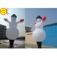 Wholesale Waterproof Nylon Inflatable Air Dancer , Christmas Inflatable Snowman from china suppliers