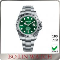 Wholesale Japan Movt Sporty Mens Watches , Slim Case Mens Green Face Watches from china suppliers