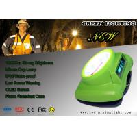 Wholesale Green 15000 Lux Cordless Mining Lights , Oled Screen LED Mining head Light from china suppliers