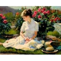 Wholesale Oil Painting-Girl on The Grass from china suppliers